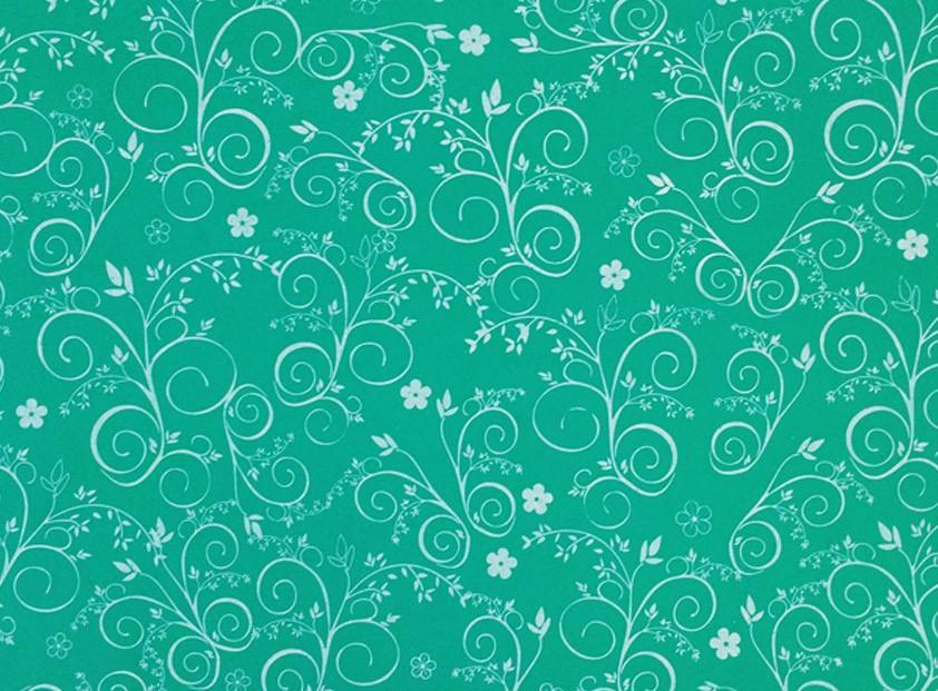 Placa Flor(9) Branca Fundo Verde 40x60cm  -