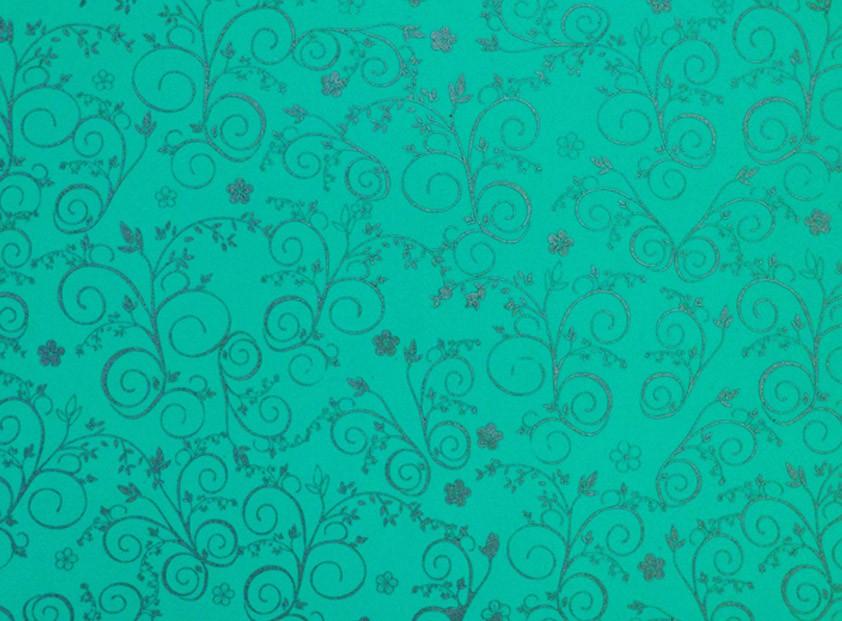 Placa Flor(9) Prata Fundo Verde  40x60cm  - Brindes Visão loja