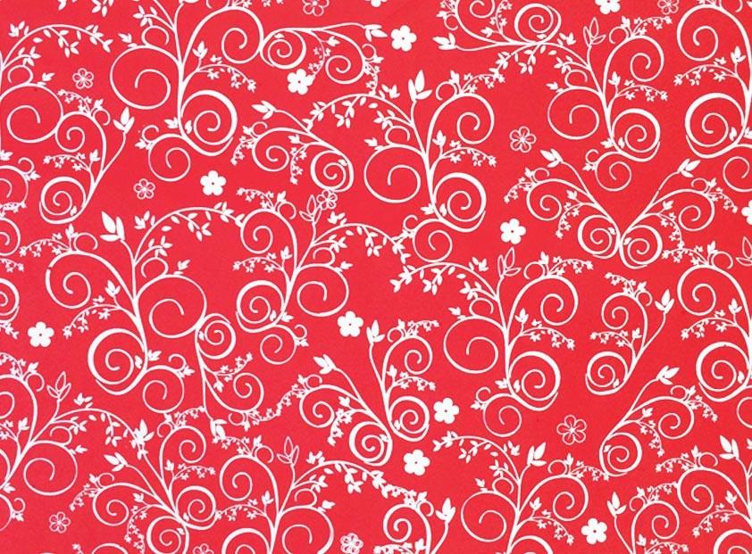 Placa Flor(9) Branco Fundo Vermelho Vivo 40x60cm  -
