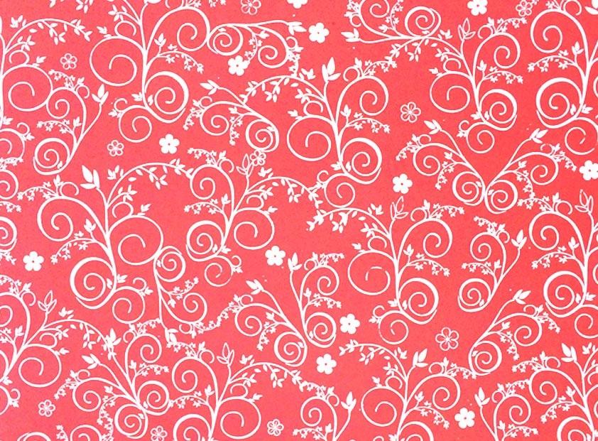 Placa Flor(9) Branco Fundo Vermelho Claro 40x60cm  -