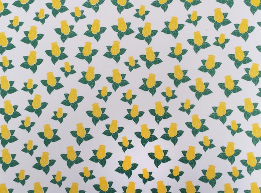 Placa Flor(8) Amarelo e Verde Fundo Branco 40x60cm  - Brindes Visão loja