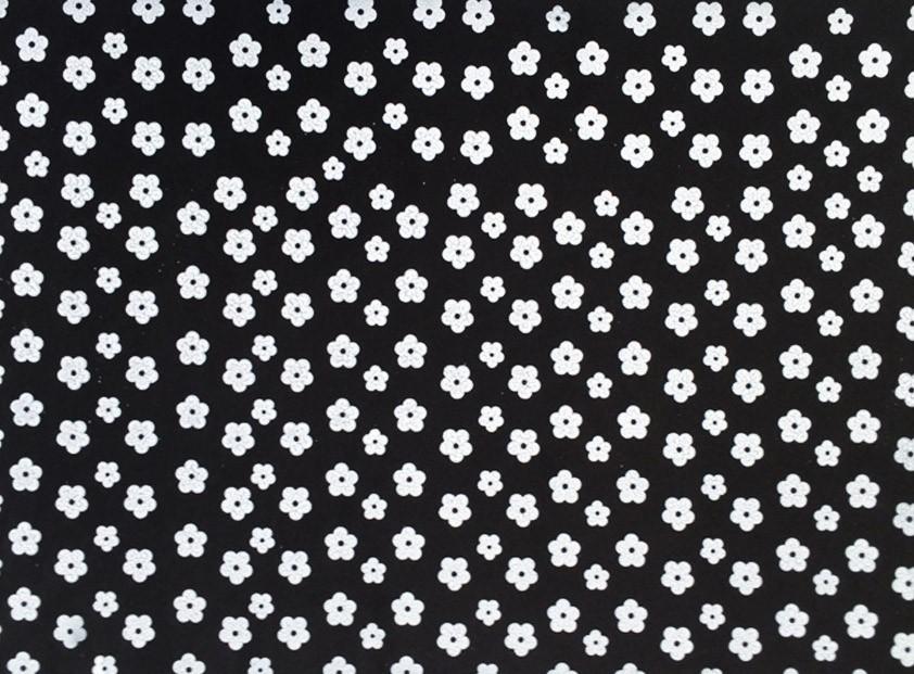 Placa Flor(2) Branca Fundo Preto 40x60cm  -