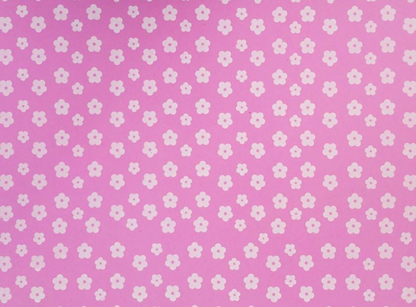 Placa Flor(2) Branca Fundo Rosa 40x60cm  - Brindes Visão loja