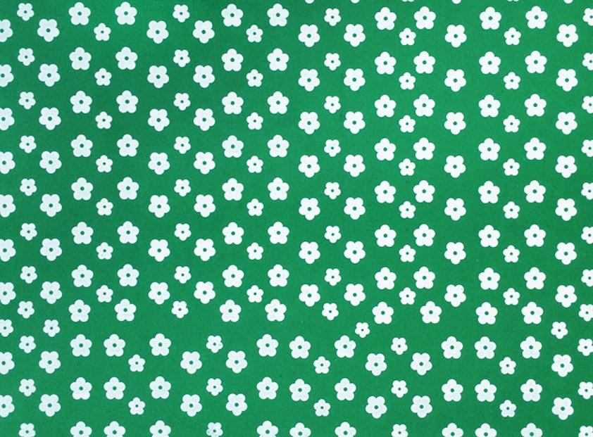 Placa Flor(2) Branca Fundo Verde Bandeira 40x60cm  - Brindes Visão loja