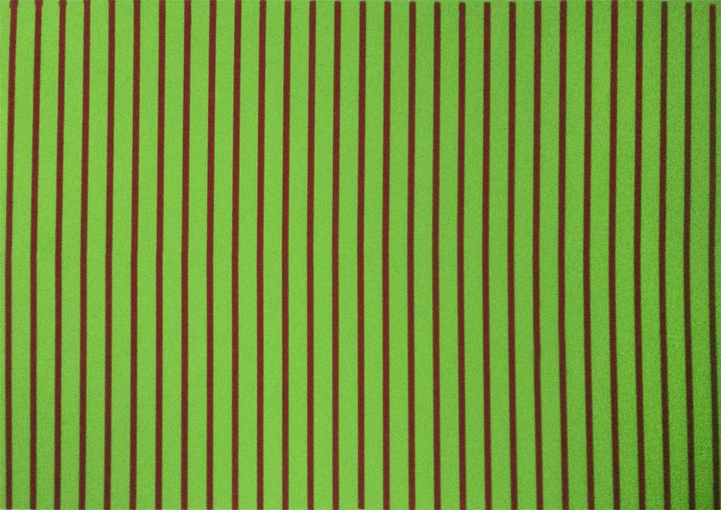 Placa Listrada Vermelha Fundo Verde 40x60cm  -