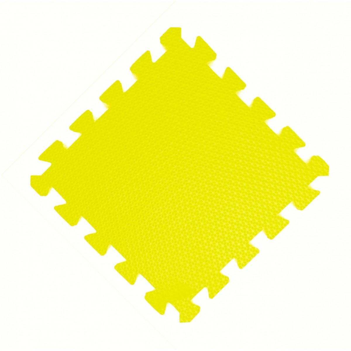 Tatames 30x30cm Com 10mm de Espessura  Amarelo  -
