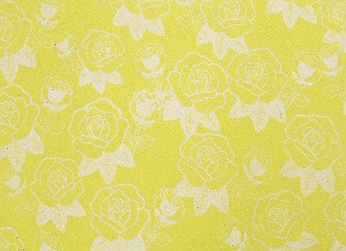Placa Flor(5) Branca Fundo Amarelo 40x60cm  - Brindes Visão loja