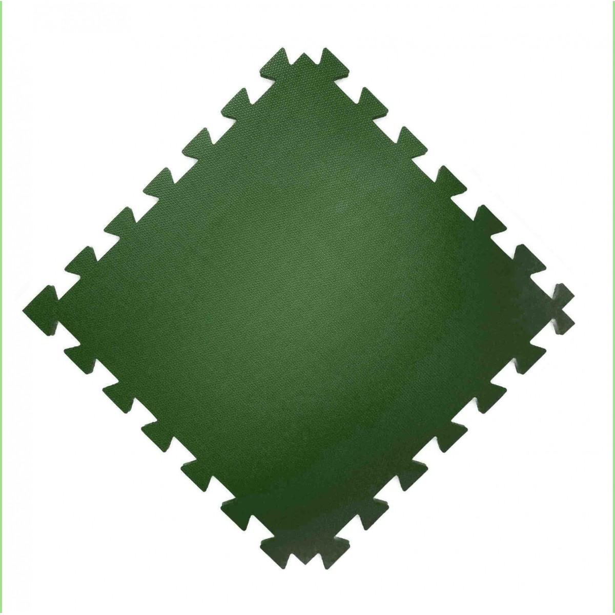 Tatame  100x100cm Com 10mm de Espessura  Verde Escuro  -