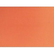 Placa de Bolinhas Pequena de 1mm Branca Fundo Laranja 40x60cm