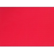 Placa de Bolinhas Pequena de 1mm Branco Fundo Vermelho 40x60cm