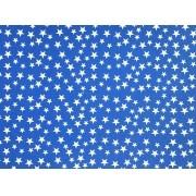 Placa Estrela Cheia Branco Fundo Azul Royal 40x60cm