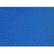 Placa Estrela Cheia Cinza Fundo Azul Royal 40x60cm