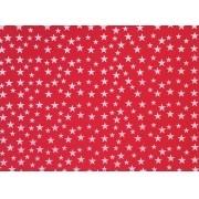 Placa Estrela Cheia Branca Fundo Vermelho 40x60cm