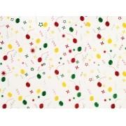 Placa Bexiga de Festa Amarelo, Vermelho e Verde 40x60cm