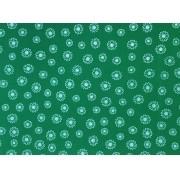 Placa Flor(3) Branca Fundo Verde Bandeita 40X60cm
