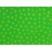 Placa  Flor(3) Amarela Fundo Verde Claro 40X60cm