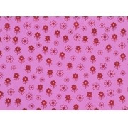 Placa Flor(6) Vermelha Fundo Rosa 40x60cm