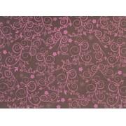 Placa Flor(9) Rosa Fundo Marrom 40x60cm