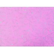 Placa Flor(9) Prata Fundo Rosa 40x60cm