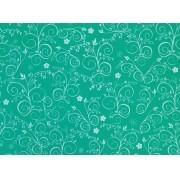 Placa Flor(9) Branca Fundo Verde 40x60cm