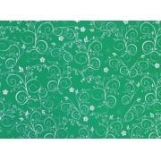 Placa Flor(9) Prata Fundo Verde Limão  40x60cm