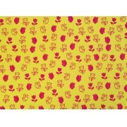 Placa Flor(4) Rosa Fundo Amarelo 40x60cm