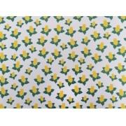 Placa Flor(8) Amarelo e Verde Fundo Branco 40x60cm