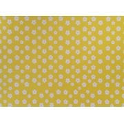 Placa Flor(2) Branca Fundo Amarelo 40x60cm