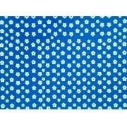 Placa Flor(2) Branca Fundo Azul Royal 40x60cm