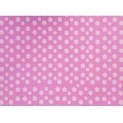 Placa Flor(2) Branca Fundo Rosa 40x60cm
