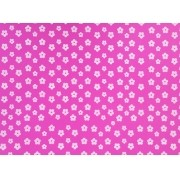 Placa Flor(2) Branca Fundo Rosa Pink 40x60cm
