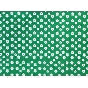 Placa Flor(2) Branca Fundo Verde Bandeira 40x60cm