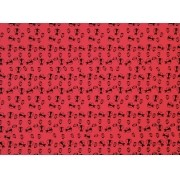 Placa Joaninha Preta Fundo Vermelho 40x60cm