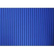 Placa Listrada Preta Fundo Azul 40x60cm