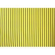 Placa Listrada Preta Fundo Amarelo 40x60cm