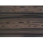 Placa Madeira Marrom Detalhe Preto 40x60cm