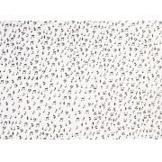 Placa Notas Musicais Pretas Fundo Branco  40x60cm