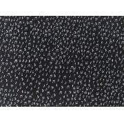 Placa Notas Musicais Brancas Fundo Preto 40x60cm