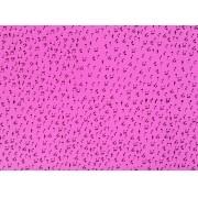 Placa Notas Musicais Brancas Fundo Rosa 40x60cm