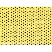 Placa Ratinha Preta com Fundo Amarelo 40x60cm