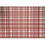 Placa Xadrez Vermelho Fundo Branco 40x60cm