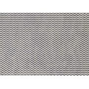 Placa Chevron Preto e Branco 40x60cm
