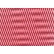Placa Chevron Vermelho e Branco 40x60cm