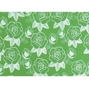 Placa Flor(5) Branca Fundo Verde 40x60cm