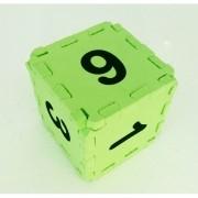 Cubo Numerado Pequeno 10x10x10cm