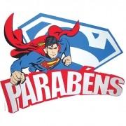 SUPERMAN FAIXA PARABÉNS   61X49CM