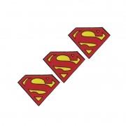 SUPERMAN MICRO LOGO COM 3 UNIDADES  9X7CM