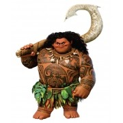 Moana Personagem Maui Micro Com 6 Peças   10x8cm
