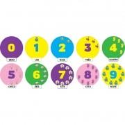 GALINHA PINTADINHA - NUMERAL  COM 10 UNIDADES   25X27CM