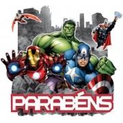 VINGADORES PAINEL PARABÉNS   72,0x68,0CM